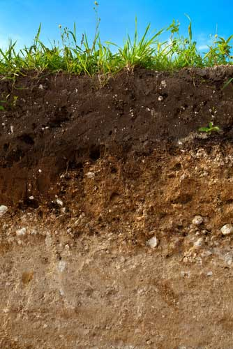 Gartenboden Schichten