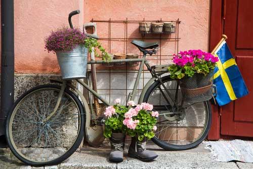 Fahrrad - Gartendeko fahrrad ...