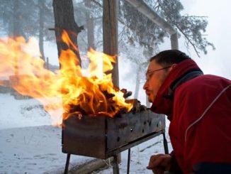 Winterparty mit Grillvergnügen