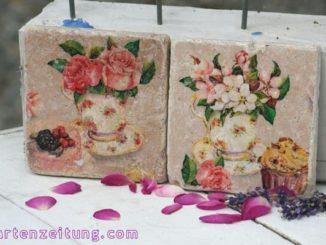 Vintagefliese Rose