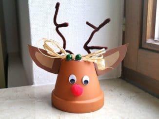 Rudolph Rentier aus Tontopf basteln