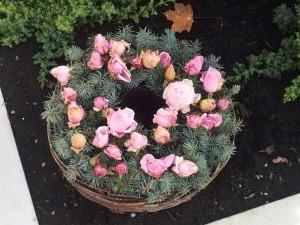 Herbstkranz mit Rosen