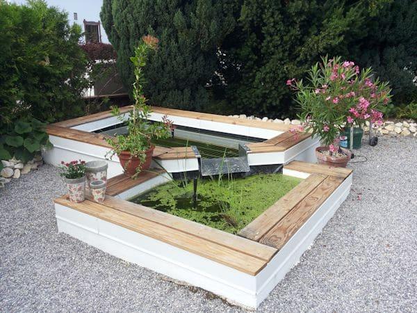 gartenteich im blumentopf, mini-teiche oder fertigteiche in gärten und auf terrassen, Design ideen
