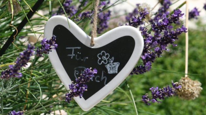 Gartendeko, Herz, Tafel