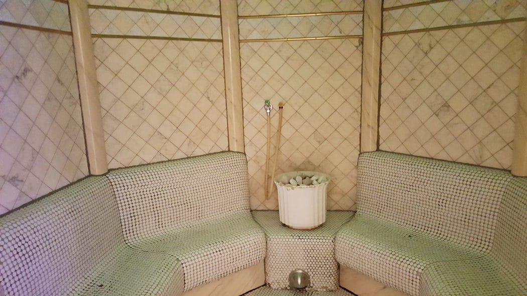 eine sauna im gartenhaus. Black Bedroom Furniture Sets. Home Design Ideas