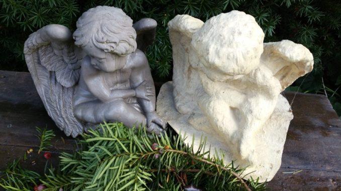 Engel, Beton, Skulptur