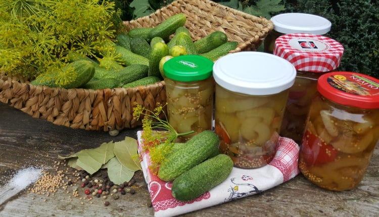 Gurken einlegen, Gürkchen, Spreewald-Gurken, Rezept einwecken