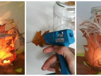 Herbstlicht, Laub, Herbst, Licht, Windlicht, DIY, Anleitung