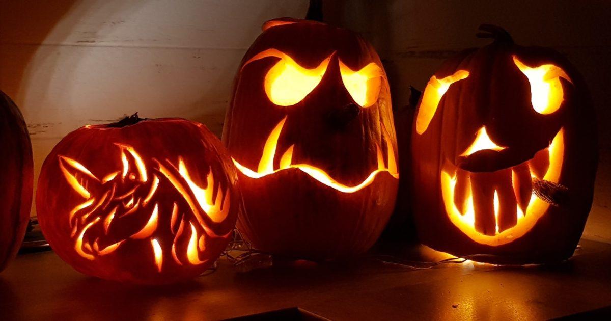 Halloween Kurbisgesichter Schnitzen Vorlagen 13