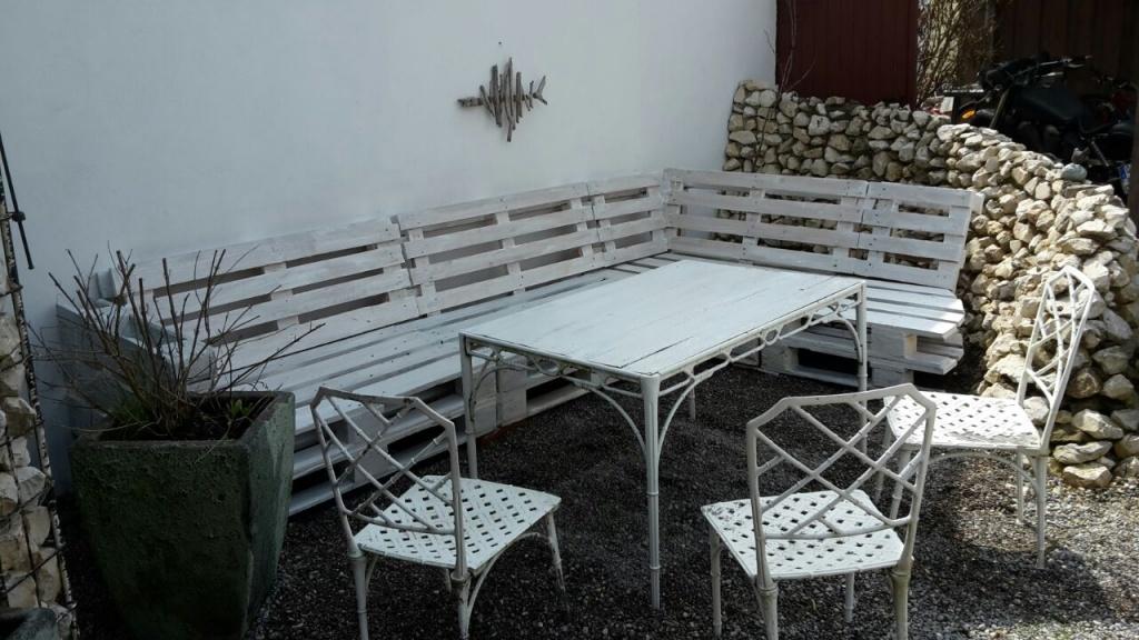 Möbel, Paletten, sitzen